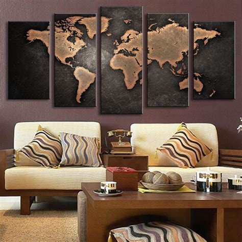 home decor for walls 5 pieces modular pictures for home abstract wall