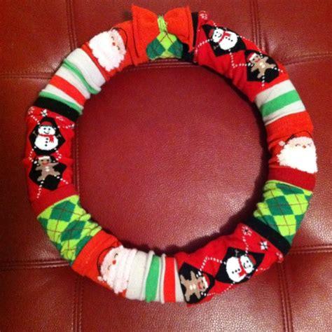 sock wreath sock wreath wreaths