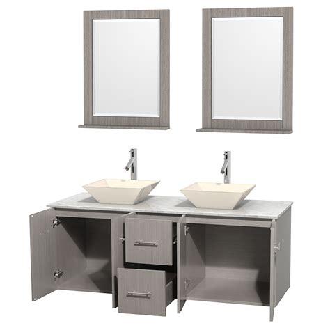 Vessel Sink Vanity Set by 60 Quot Centra Bathroom Vanity Set For Vessel Sink By Wyndham Collection Gray Oak
