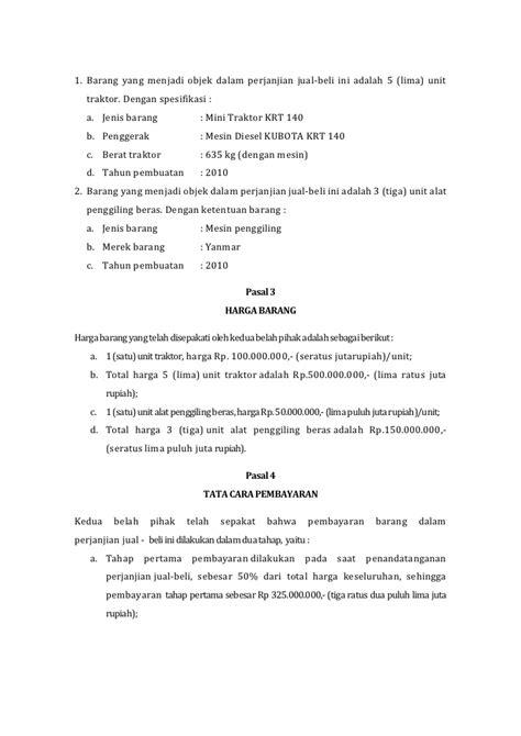 Contoh Surat Akta Jual Beli Tanah Dan Bangunan - Surat 10