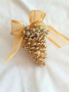 Pine Cone Ornaments by Pine Cone Ornament Christmas Crafts Pinterest