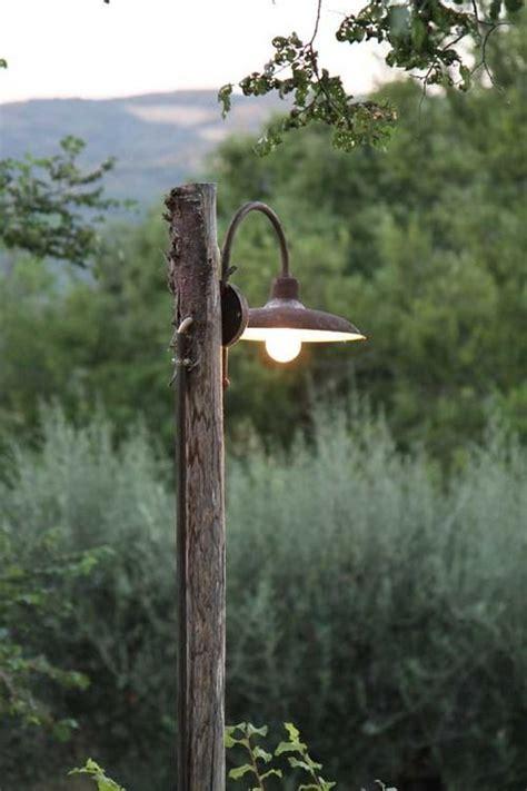 weeks  umbria rustic gardens garden lamps