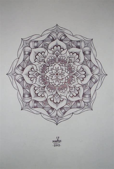 lotus pattern drawing flower mandala by shitshyle on deviantart
