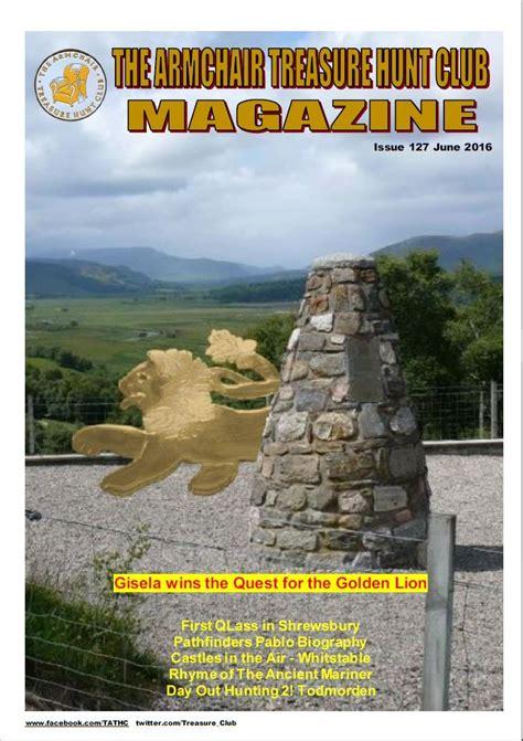 armchair treasure hunts the armchair treasure hunt club newsletters 2016