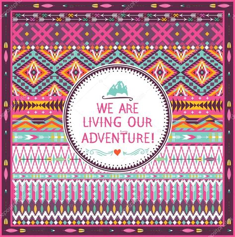 tribal pattern quotes hipster seamless tribal pattern with geometric elements