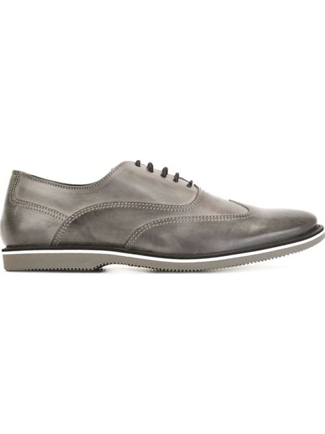 mens gray oxford shoes francesina oxford shoes in gray for grey lyst