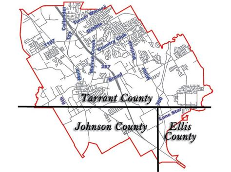 tarrant county map texas counties mansfield economic development
