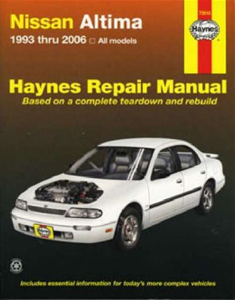 nissan bluebird altima 1993 2006 haynes service repair manual workshop car manuals repair