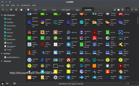theme editor linux install loli papelk ultra flat icons theme on linux mint