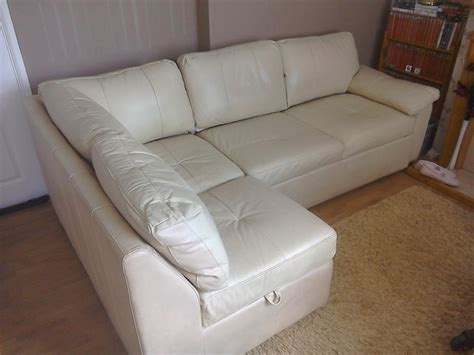 leather corner settees cream leather corner bed settee dudley dudley