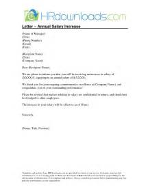 Increase Letter Template Salary Increase Letter Template From Employer To Employee