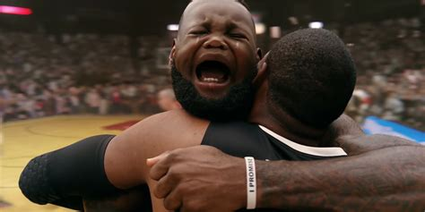 Lebron James Crying Meme - lebron james face changes to that of a crying baby and then back in intel s latest ad adweek