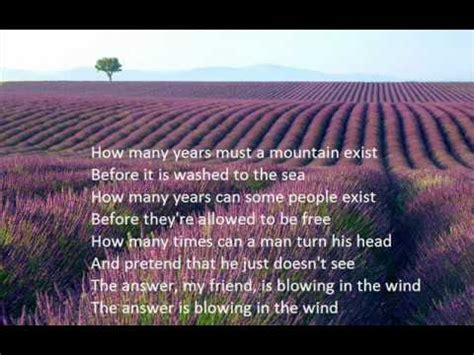 blowin in the wind w lyrics