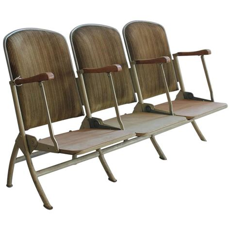 stadium bench seat 1920s american stadium three seat bench for sale at 1stdibs