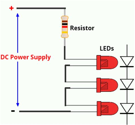 resistor with led in series voltage leds resistor calculator electronics projects circuits