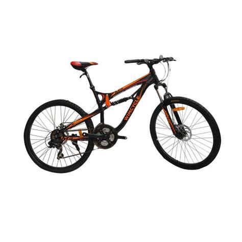 Jari Sepeda Orenge 26 2 jual wimcycle m2 sepeda mtb black orange 26 inch
