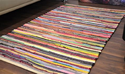 groupon rugs recycled handmade chindi rugs groupon