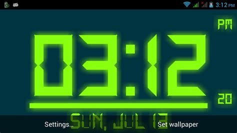 digital clock  wallpaper apk