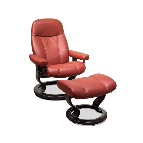 stressless sessel pflege sessel consul s classic base leder mit hocker in rot