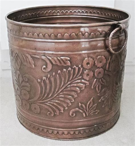Large Copper Planter by Large Copper Planter Embossed