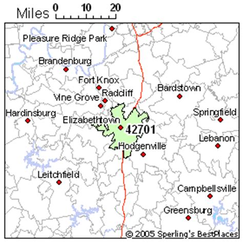 kentucky map elizabethtown best places to live in elizabethtown zip 42701 kentucky