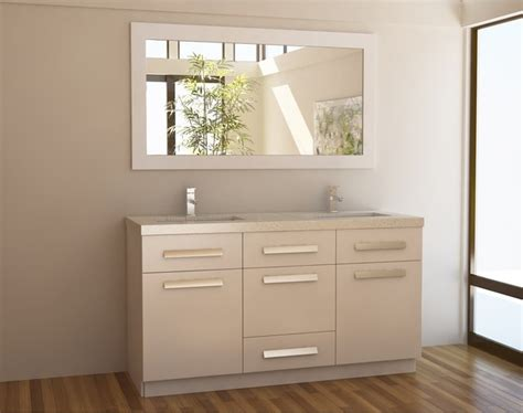 Modern Bathroom Vanity 60 Inch Moscony White 60 Inch Sink Vanity Set