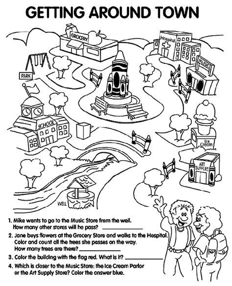 town map coloring page town map coloring page