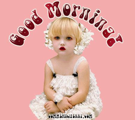morning wishes with baby morning pictures