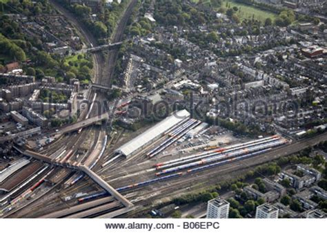 aerial view west of clapham junction railway lines