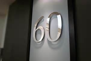 office wall mirror sign 3d corporate lobby sign 60