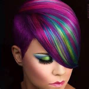multi colored hair amazing colorful hairstyle with hairs hairzstyle