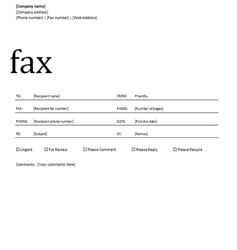layout fax word fax cover sheet with professional design