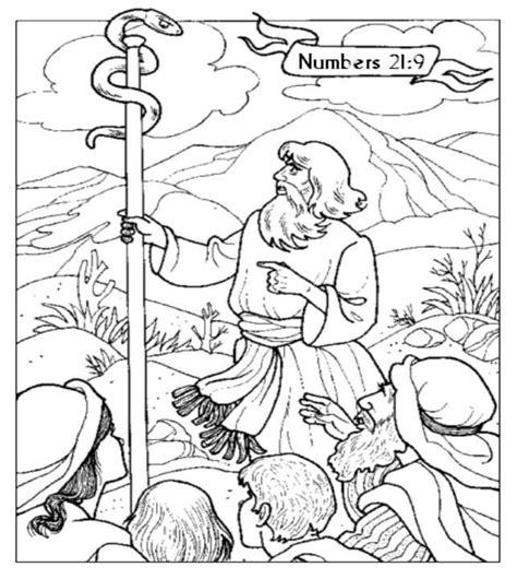brazen serpent coloring page sunday school coloring