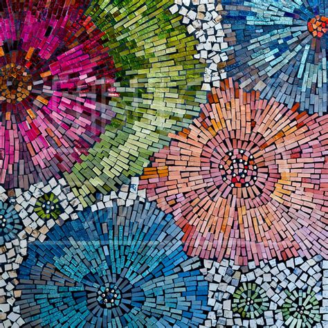 mosaic wall gorgeous mirror mosaic geometric