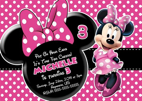minnie mouse template invitations free minnie mouse printable birthday invitations drevio