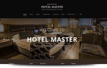 theme hotel master hotel master room reservation wordpress theme