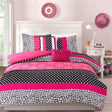 hot pink black white cheetah animal print teen girl
