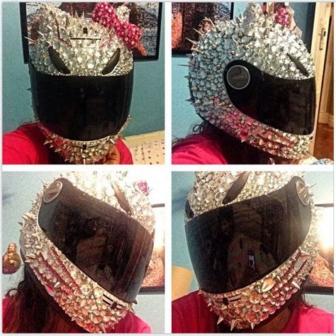 Hello Blink Handmade Swarovski Bling All Type helmet designs how to bling the crap out of your helmet sun cats and design