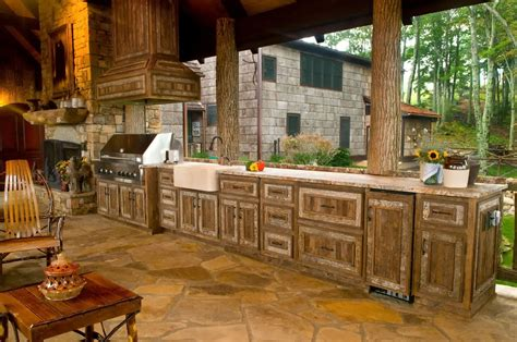 rustic outdoor kitchen ideas rustic outdoor kitchen designs design ideas
