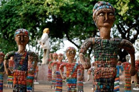 rock garden nek chand pm modi gave best cleanness park award to rock garden chandigarh city