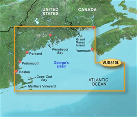 is cape cod in maine garmin bluechart g2 vision hd vus510l maine to cape cod