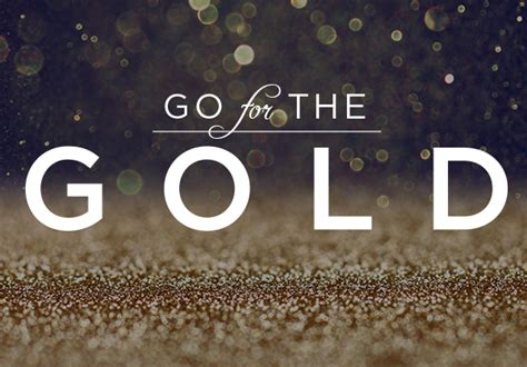 Goes For The Gold by Go For The Gold Logo Website On Behance