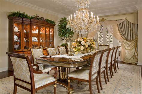 luxury dining room set dining room with wood cabinet and