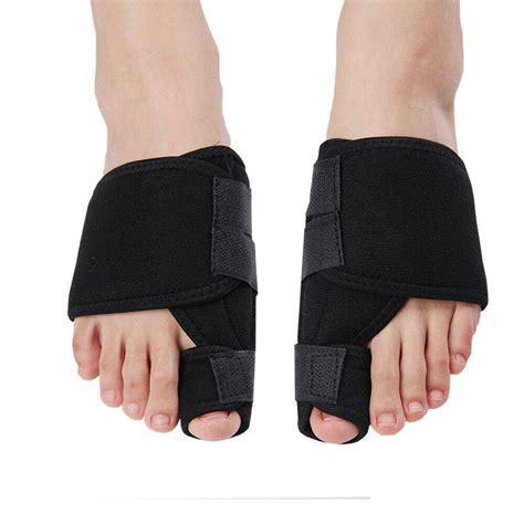 pair big toes hallux valgus splint support corrector