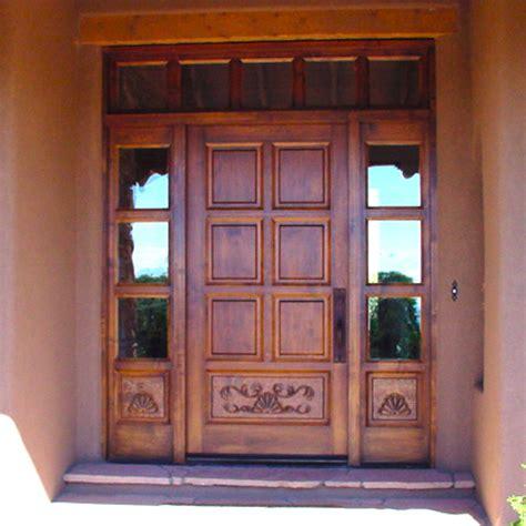 Custom Wood Front Doors custom carved wood front door artisans of the desert