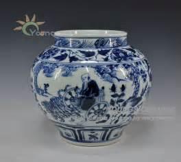 Oriental Blue And White Vases Estilo Antigo Chin 202 S Da Dinastia Yuan Azul E Branco Vasos