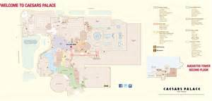 Map To Las Vegas by Las Vegas Caesars Palace Hotel Map