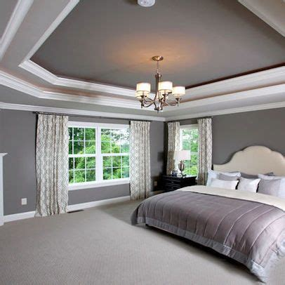 gray ceiling tray ceiling grey master design ideas pinterest