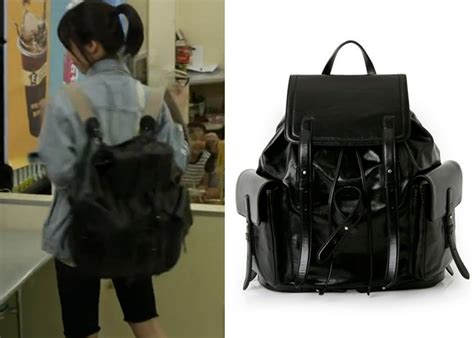 L Inoui Bono Canvas Backpack trot episode 1 fashion kdramastyle