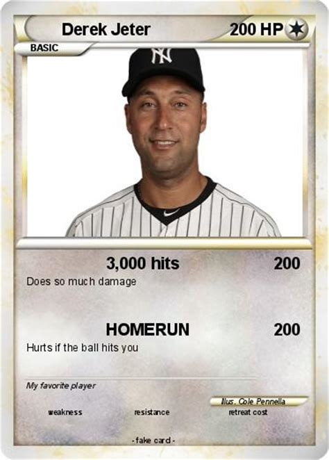 pok 233 mon derek jeter 34 34 3 000 hits my pokemon card